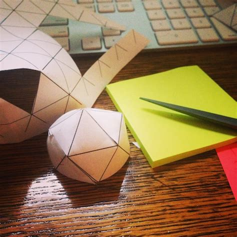 A Sphere Out Of Paper - introducing geodesic blueprints for sewing