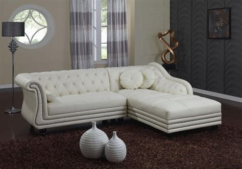 sophro tufted leather sectional sofa traditional 1599
