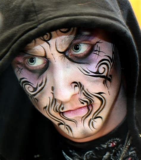 halloween face tattoos 252 best images about painting on glitter