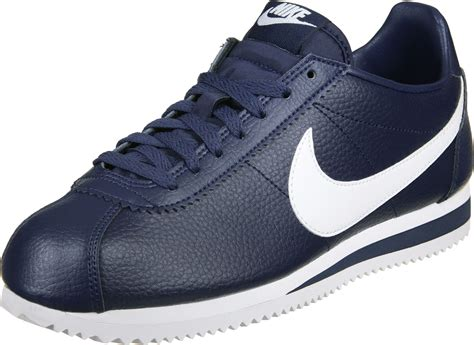 nike classic cortez leather shoes blue