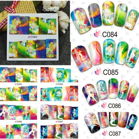 84 Nail Sticker Sticker Kuku Nail Wraps 1sheet water transfer nail stickers decals cover