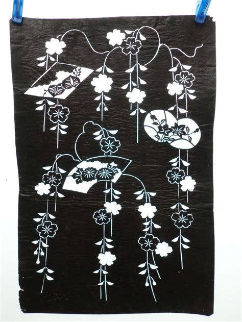 kimono pattern stencil 1000 images about material of katazome on pinterest