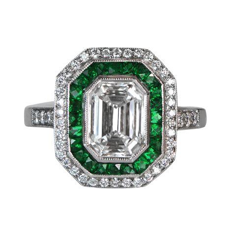 emerald and diamonds 4040412 estate jewelry