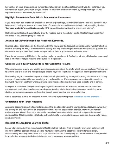 13 academic resume writing tips to fast track your application