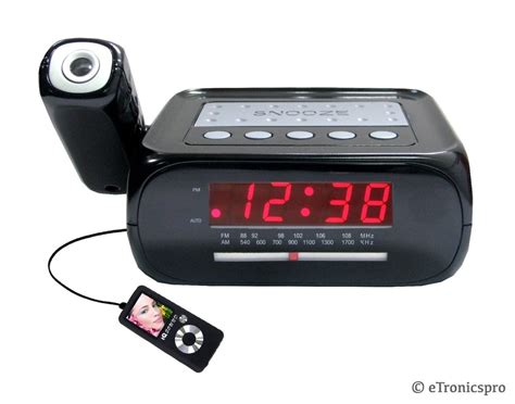 l radio alarm clock ceiling wall projection projector alarm clock radio ipod