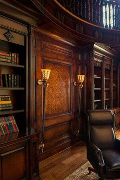 traditional home library library design