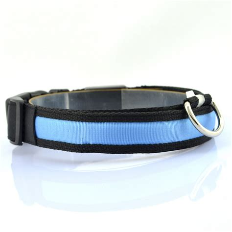 light up belt led glow light belt leash pet light up