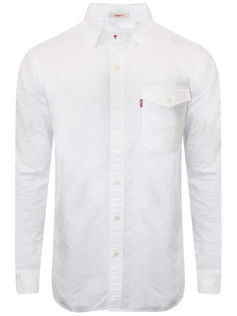 White Denim Shirt by Levis White Casual Denim Shirt 17654 0020 Cilory