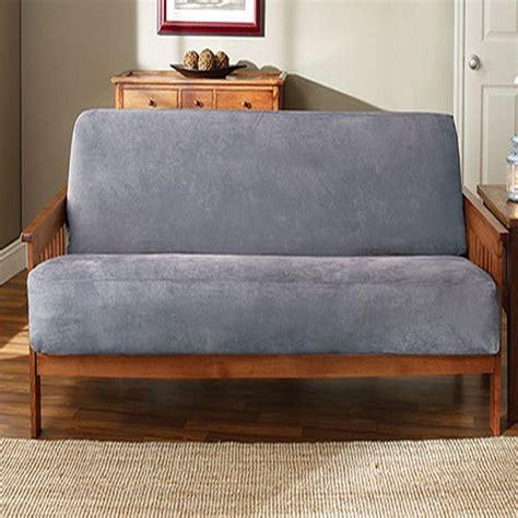 sure fit soft suede futon cover smoke blue new ebay