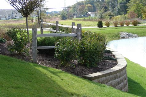 split rail fence landscaping