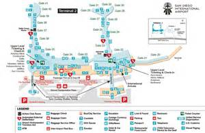 San Diego Airport Map by San Diego International Aiport Map San Diego