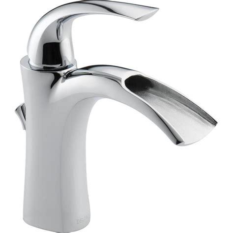 delta nyla chrome  handle single hole watersense bathroom sink faucet  drain  lowescom