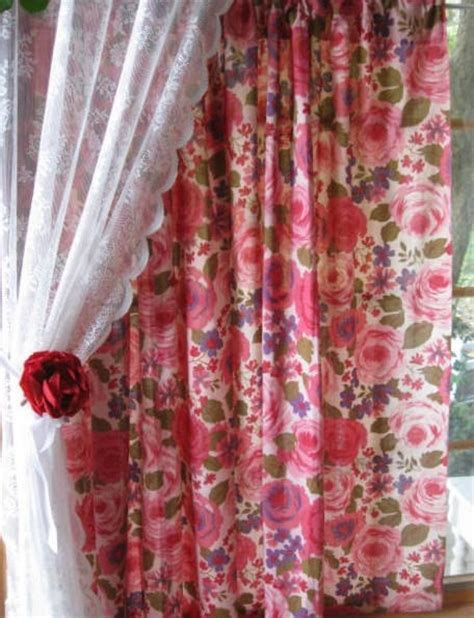 rose floral curtains the 227 best images about rose print curtains on pinterest