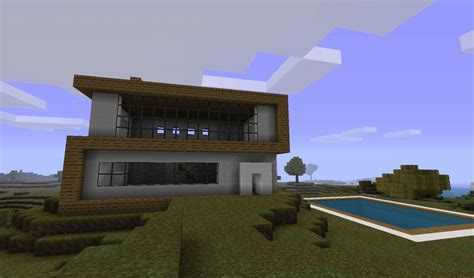 Simple Open Floor Plan Homes by Modern House Designs Minecraft Project
