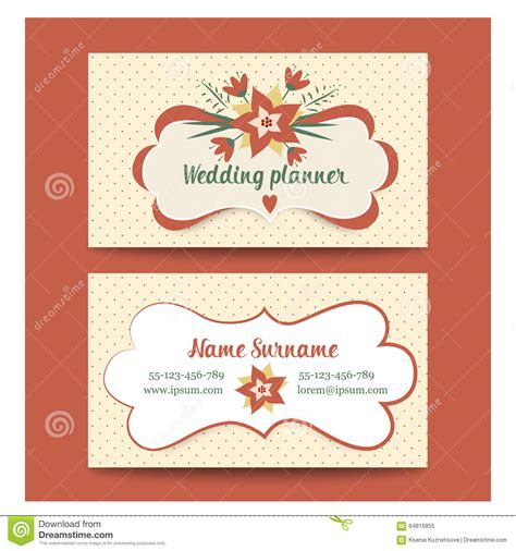 planning cards template wedding planner visiting card sle wedding o
