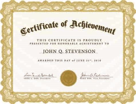 presentation certificate template resume format presentation certificate template