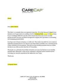 carecap 31 89 day past due payment letter generic