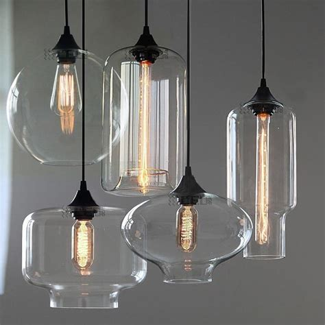 New Modern Retro Glass Pendant Ls Kitchen Bar Cafe Hanging Lights From Ceiling