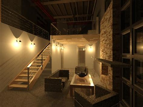 bar room lighting night rendering test cloud rendering in revit 2012 microsol resources