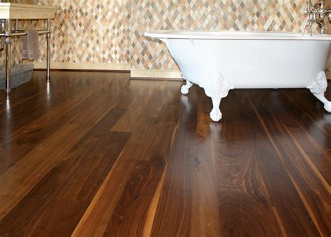 walnut flooring eclectic bathroom other metro by
