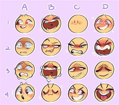 Facial Expression Memes - expressions meme 2 by bluminescent on deviantart