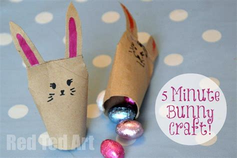 Drawing 5 Minute Crafts by Toilet Paper Roll Bunnies East Crafts For