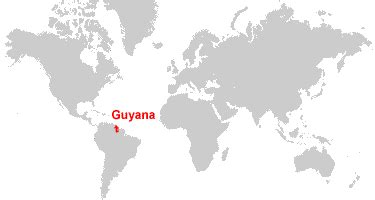where is guyana on the world map guyana map and satellite image