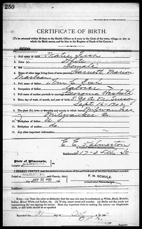 Milwaukee Wisconsin Birth Records Part I 1902 1929 Wisconsin U S A Uw Archives And Records Management