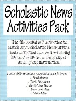 Scholastic News Worksheets by Scholastic News Center Activities