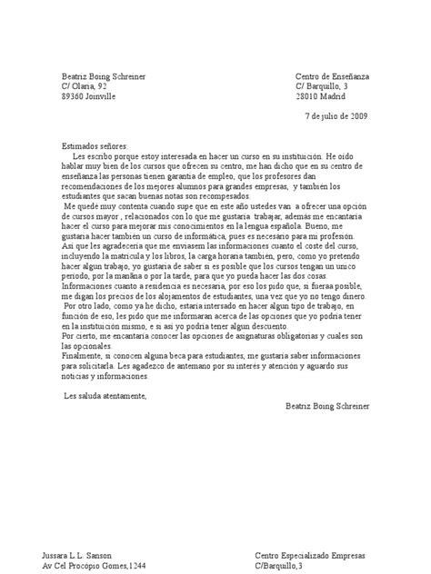 La Carta Formal Pdf cartas formales de los alumnos