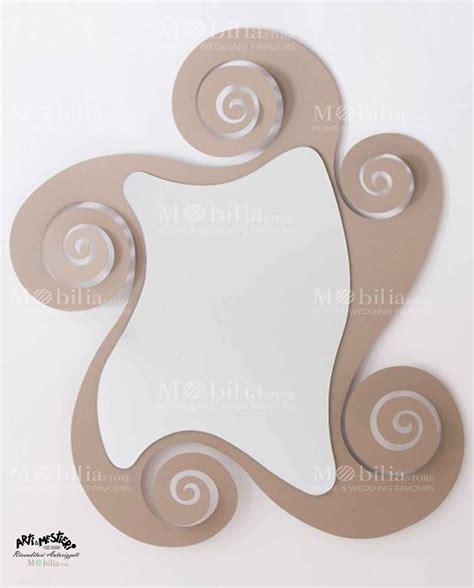 specchio con cornice a specchio specchio da parete con cornice spirale arti e mestieri