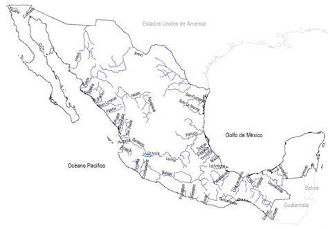 mapa de mexico con rios m 233 xico mapa hidrografia