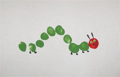 caterpillar crafts for itmom hungry caterpillar fingerprint craft