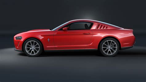 the evolving design themes of the 2015 ford mustang 2015 ford mustang design development theme c side