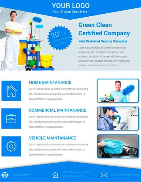Download Free Cleaning Service Flyer Psd Template For Photoshop Cleaning Company Flyer Template