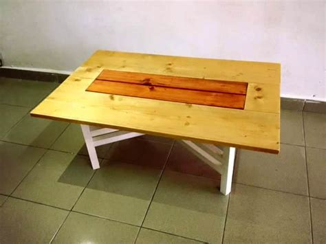 diy table with cross legs oval top pallet coffee table with 3 legs