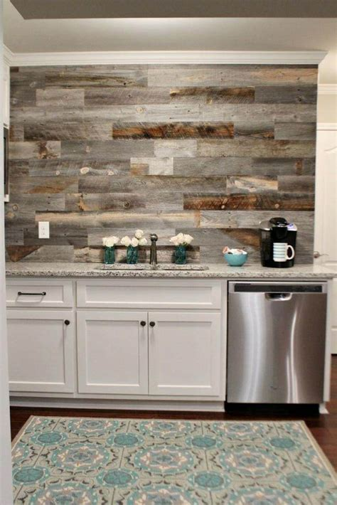 barnwood backsplash 12 diy projects to make using reclaimed wood tip junkie