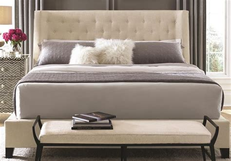 bernhardt maxime king bed morris home upholstered beds