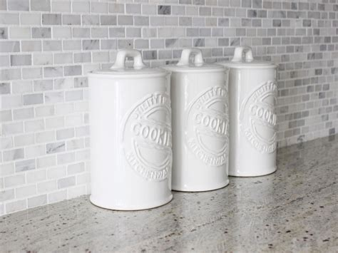 White Ceramic Kitchen Canisters Best Canisters For