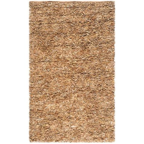 Gold Shag Rugs by Safavieh Leather Shag Light Gold 6 Ft X 9 Ft Area Rug