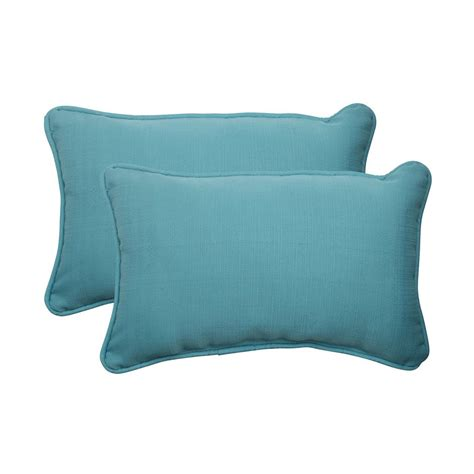 Outdoor Pillows Lowes shop pillow forsyth 2 pack turquoise solid