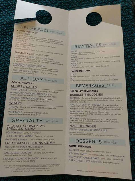 royal princess room service menu harmony of the seas room service menu cruise with gambee