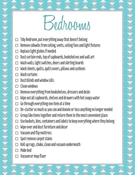 cleaning bedroom checklist bedrooms spring clean checklist c forever organised