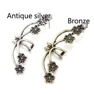 Kalung Fashion Single Flower new vintage exaggerated flower single clip fashion earrings jewelry bygoods