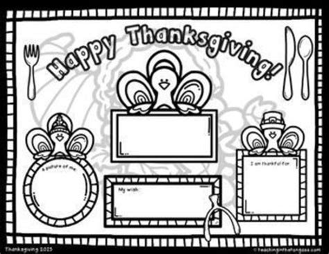 thanksgiving coloring page placemat free thanksgiving coloring placemat preschool items