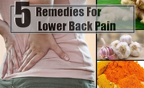 back home treatment 5 effective home remedies for lower back