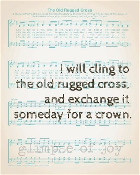 i will cherish the rugged cross then sings my