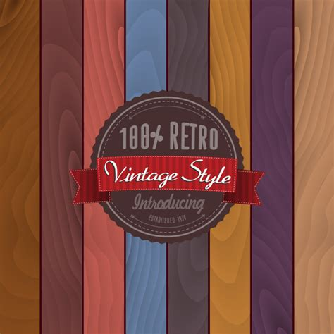retro vintage style badge template free vector in adobe