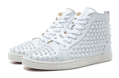 christian louboutin mens white sneakers louboutin spikes black louboutins sneakers