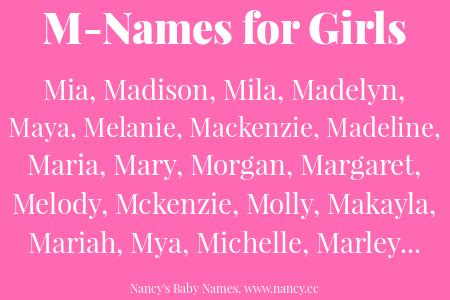 names that start with m m names for baby nancy s baby names